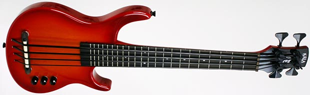 kala adds new model to s-u-b bass series, новая модель бас гитары Kala - Cherry Burst Solid Body Subductive