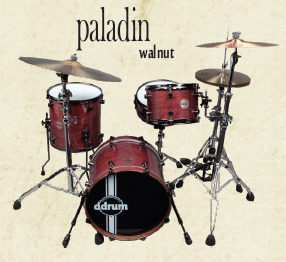 ddrum paladin walnut ember red, барабанная установка ddrum paladin walnut ember red