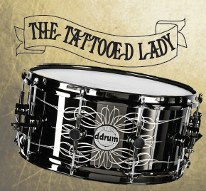 ddrum the tattooed lady snare drum, малый барабан ddrum the tattooed lady