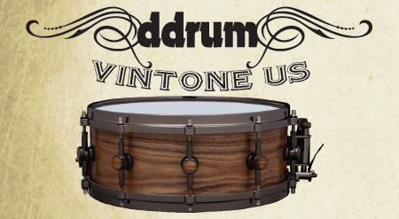 ddrum vintone us snare drum, малый барабан ddrum vintone us