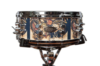 drummax custom drums 50 ply snare drum with dragons, малый барабан из 50 слоев drummax custom drums