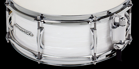 dynamicx drums backbeat white strata snare drum, малый барабан Dynamicx Drums Backbeat white Strata