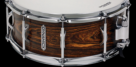 dynamicx drums bocote unibody snare drum, малый барабан Dynamicx Bocote Unibody