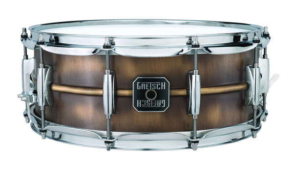 gretsch brushed brass snare drum, малый барабан gretsch brushed brass snare drum