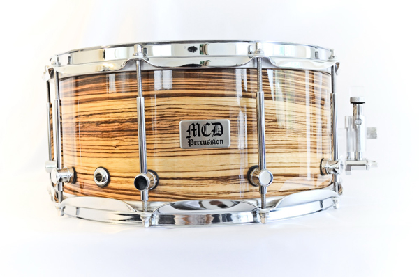 mcd percussion zebrawood, малый барабан mcd percussion zebrawood