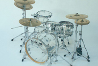 pork pie clear acrylic drum kit, барабаны pork pie clear acrylic
