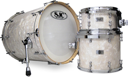 sjc white pearl series drums, барабаны SJC Aged White Pearl series