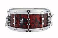 sonor prolite snare drum red tribal, малый барабан sonor prolite snare drum red tribal