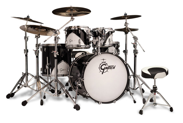 gretsch motor city black kit, установка gretsch motor city black