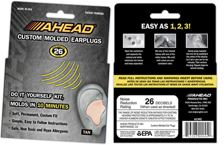 ahead custom earplugs, затычки для ушей Ahead