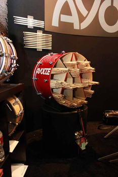 ayotte drumsticks at namm winter 2013, барабанные палочки Ayotte