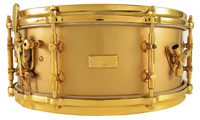 gladstone gold-lacquer and plated snare drum, малый барабан gladstone gold-lacquer/gold plated