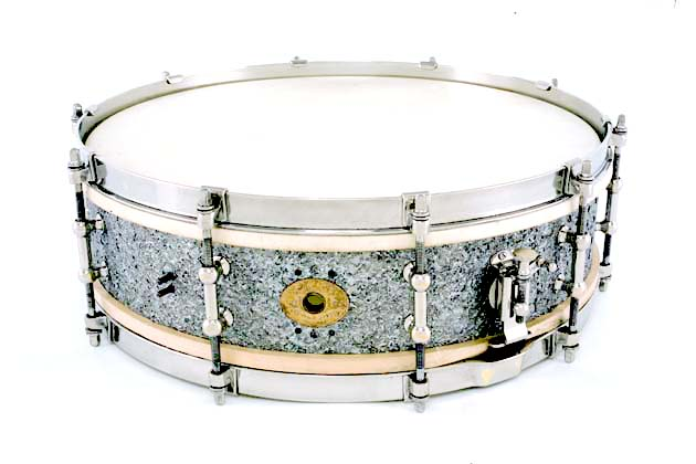 ludwig and ludwig stipelsilver snare drum 1926-27, малый барабан