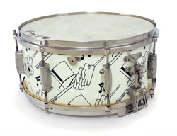 ludwig and ludwig top hat and cane standart model snare drum, малый барабан