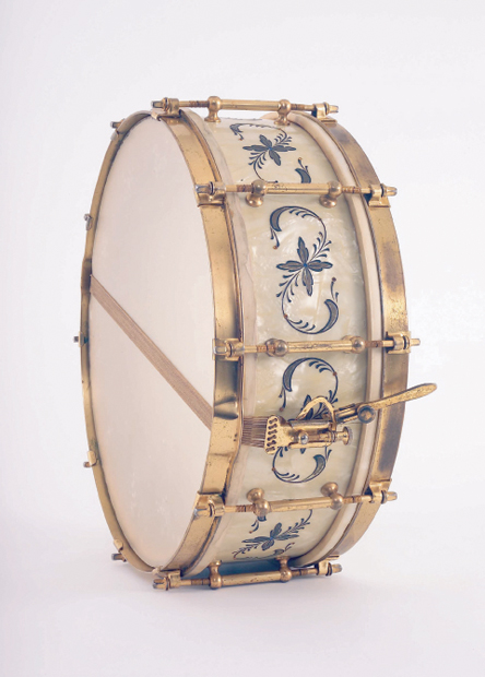ludwig and ludwig white marine pearl standart model snare drum, малый барабан